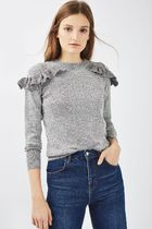 《プチ160cm以下の方対象♪》TOPSHOP☆Ruffle Shoulder Knit