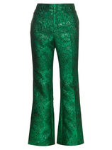 GUCCI★RUNWAY Floral-brocade flared trousers