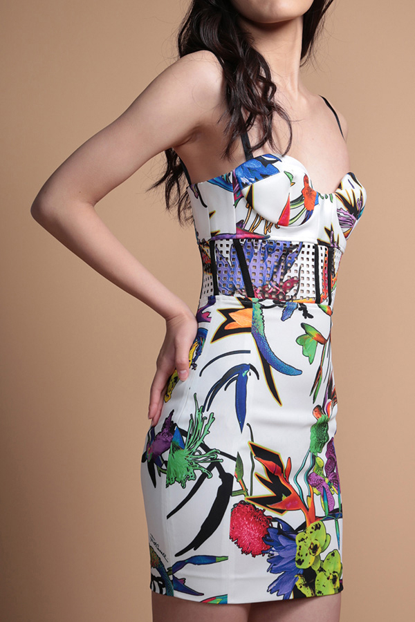 Just Cavalli 花柄ノースリーブワンピース[40]OUTLET PTX8878