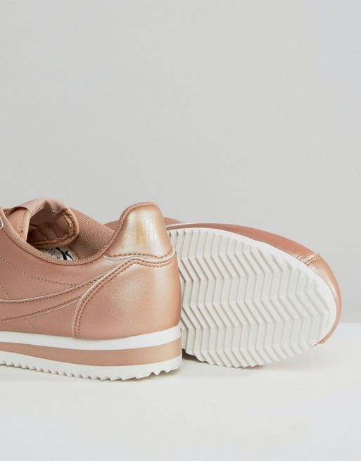 【関税送料込】Cortez Trainers In Rose Gold Metallic Leathe☆