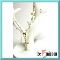 ★fee mignon★14kgf☆クロスチャームのネックレス
