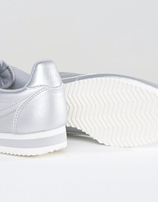 【関税送料込】Cortez Trainers In Silver Metallic☆