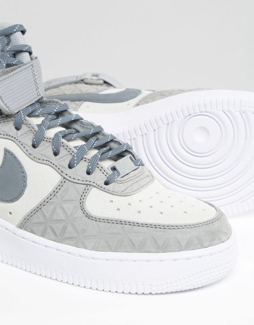 【関税送料込】Air Force 1 Hi Trainers In Grey Suede☆