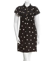 【Kate Spade New York】Silk Printed Dress シルクワンピース S