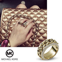 送料&関税込♪ Michael Kors☆ Pave Frozen Curb Chain Ring