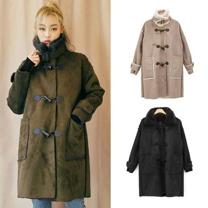 OUTER with soft faux leather dachulmstan coat