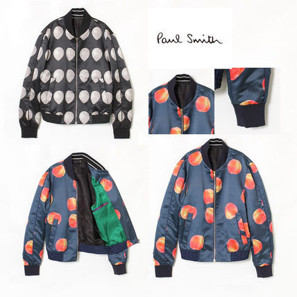 PAUL SMITH printed Ma-1 jacket