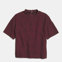 Coach(コーチ) HOUNDSTOOTH ruffle neck t-shirt サイズXS