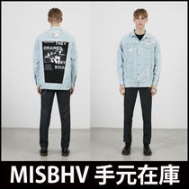 "手元在庫 ""MISBHV"" OVERSIZE DRAINED DENIMジャケット"
