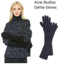 Acne Dahlia gloves モヘア混ファジーリブニットロンググローブ