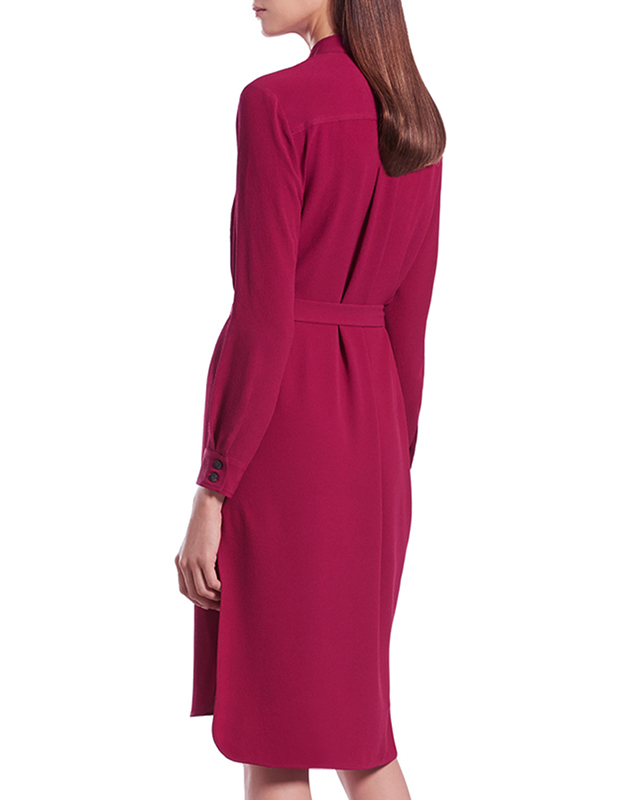 GUCCI★グッチ★素敵!FUCHSIA FLUID SILK SHIRTDRESS