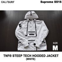 最短2日で到着!Mサイズ/Supreme x TNF STEEP TECH HOODED JK 白