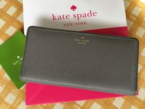 Kate Spade★Mulberry Street Large Stacyカード用長財布 グレー