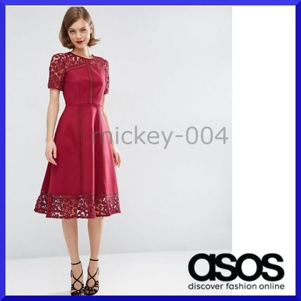 Shipping / ASOS premium lace frirmidi dress