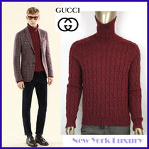 GUCCI★グッチ★素敵!Burgundy Turtle Neck Wool Sweater