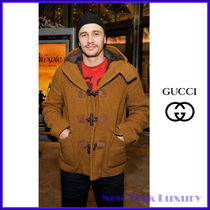GUCCI★グッチ★素敵!Brown Wool Coat Blazer Fur Lining