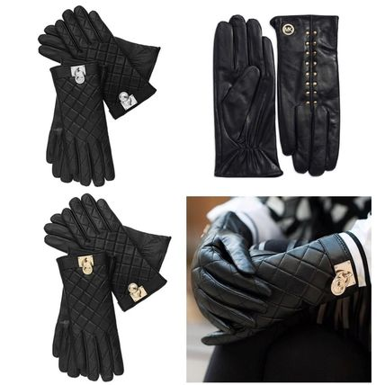 Studded leather gloves 3 types of sale or the Michael Kors