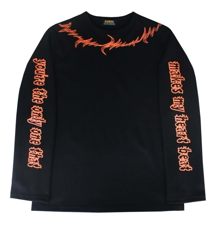 RUNDS(ランディエス) ★ heartbeat long sleeve BLACK