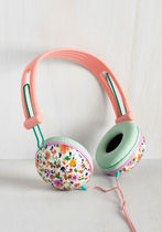 modcloth(モドクロス) AV機器(オーディオ・映像) ◆大人気 Swoons and Tunes Headphones in Leafy Wildflowers