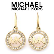 ☆Michael Kors☆ Pave Logo Gold-Tone Earrings ピアス♪