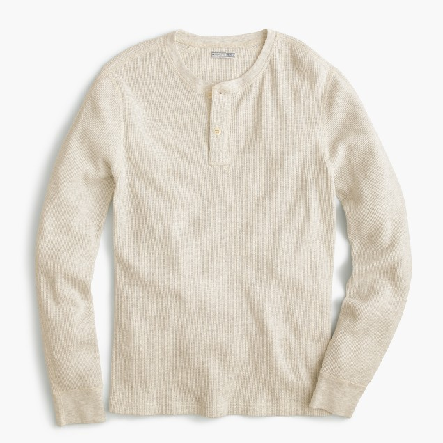 WALLACE & BARNES  暖かいTHERMAL HENLEY