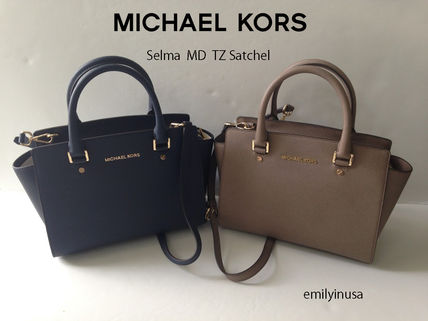 Michael Kors ハンドバッグ 【超お買い得】Michael Kors★Selma Medium Satchel 2way*即発!