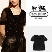 セール coach STAR stud top 55100