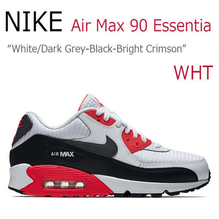 NIKE AIR MAX 90 Essential White Black Crimson エアマックス90
