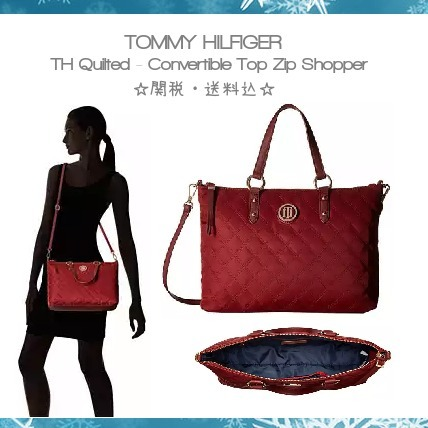 【Tommy Hilfiger】TH Quilted トートバッグ☆関税・送料込☆