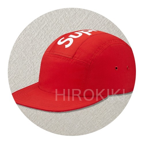 16AW★Supreme Top Stripe Camp Cap キャップ 帽子 Red 赤