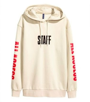 Printed Hooded Sweatshirt (PURPOSE TOUR x Fear of God beige)