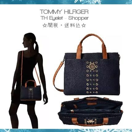 【Tommy Hilfiger】TH Eyelet トートバッグ☆関税・送料込☆