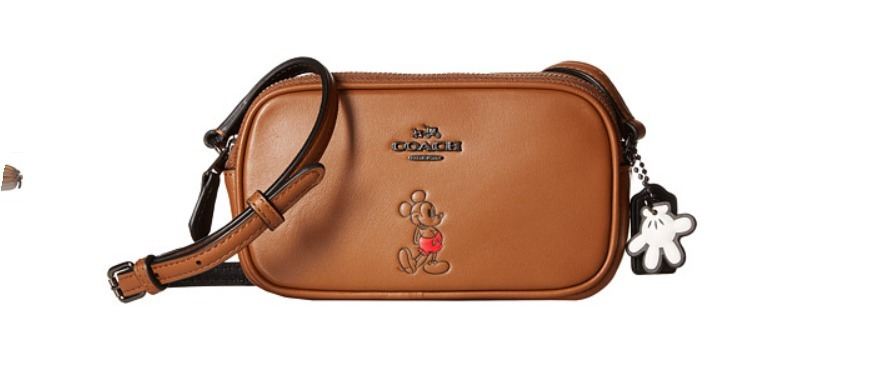 COACH Box Program MickeyCrossbodyPouchコーチミッキーバッグ
