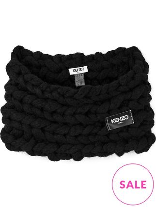 Sale by KENZO knitted neck holder collar black