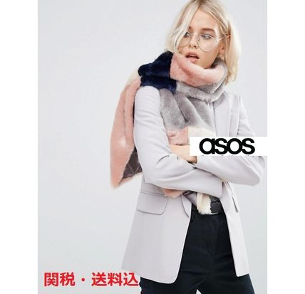 ASOS patchwork faux leather scarf