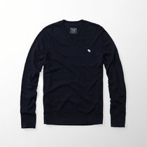 【国内即発】アバクロ ICON WOOL-BLEND V-NECK SWEATER★NAVY★