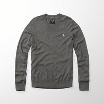 【国内即発】アバクロ ICON WOOL-BLEND V-NECK SWEATER★GREY★