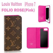 大人気★Monogram【送込・Louis Vuitton】iphone7 FOLIO★ローズ
