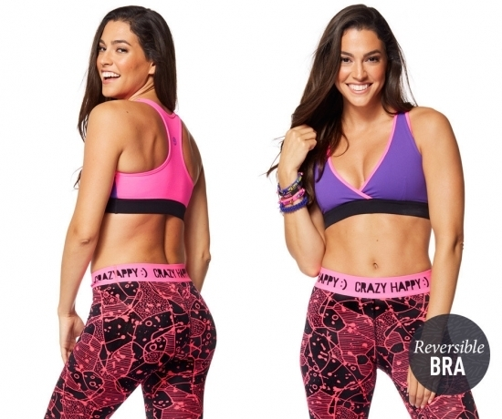 【即納 M】Zumba Keep on Glowing Reversible V Bra ズンバブラ