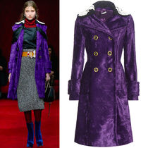 MM021 LOOK14 FAUX FUR DOUBLE BREASTED COAT