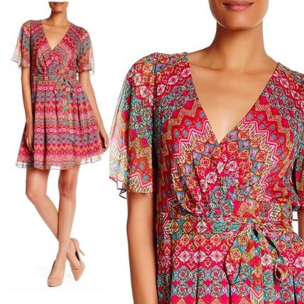 Sale DVF Katina chiffon floral print dress