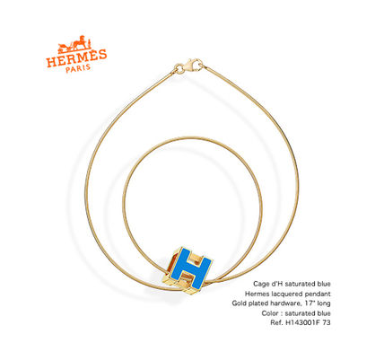 *HERMES*Cage d'H/ゴールド× saturated blue