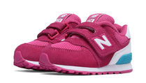 New Balance 574High Visibility Hook and Loopフラミンゴピンク