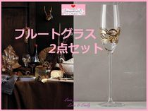 17SS*最安値☆関税送料込【Anthro】Glimmer Wrapped Flute 2客