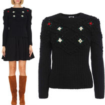 MM031 FLORAL EMBROIDERED SWEATER