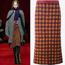 MM037 LOOK13 CHECKED WOOL SKIRT