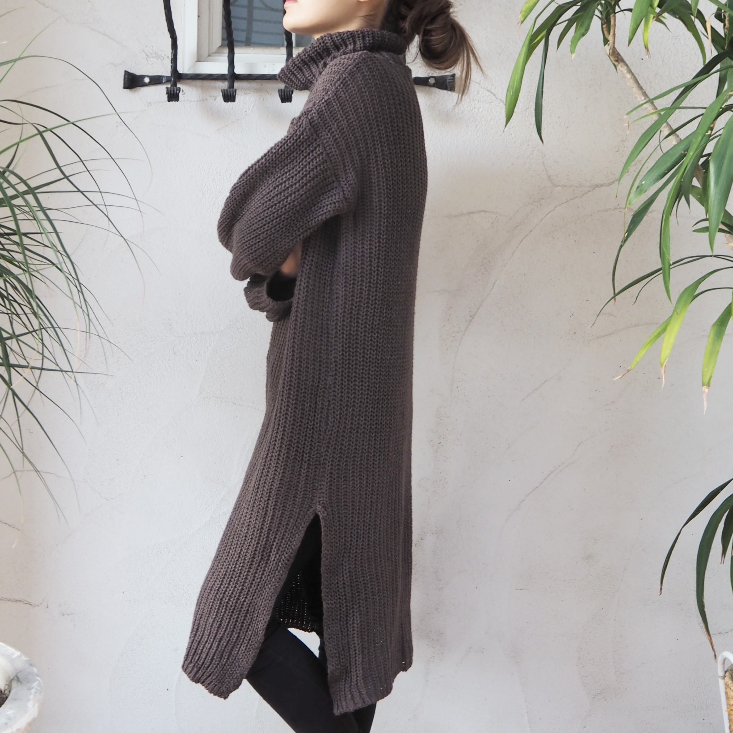 【新作】【即発】 Turtle Knit OP 《BROWN》
