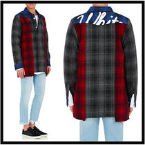 Off-Whiteオフホワイト Buffalo-Checked Patchwork Shirt Jacket