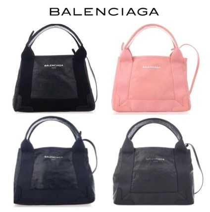 EMS BALENCIAGA leather for CABAS 2WAY BK/NV/GY/PK