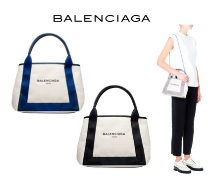 BALENCIAGA EMS送料込♪ NAVY CABAS XS 2WAY BK/NV